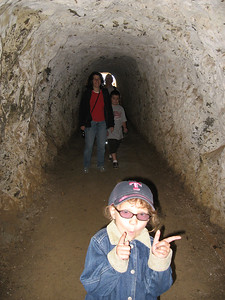 Rebecca & Family in tunnel near Point Bonita Lighthouse.
