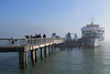 Arriving by ferry in Sausalito.