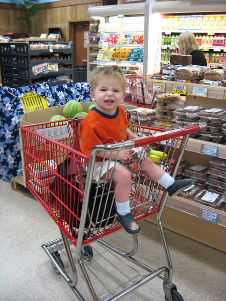 Wyatt at Trader Joe's