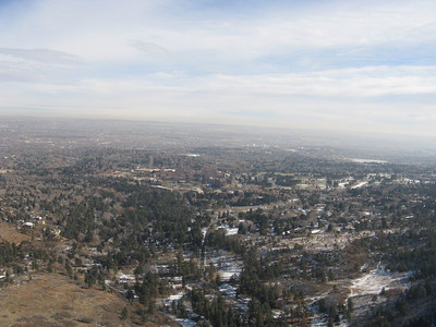 Can you make out the Broadmoor Hotel?