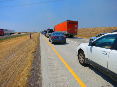 Rats - a 45-min delay a little east of Boise.
