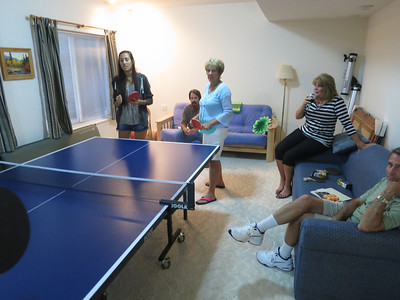OK, the Potluck snacks are out of the way - now time for the Ping Pong Party!