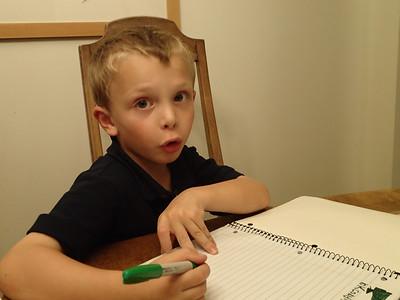 How about that - kindergarten must involve homework!