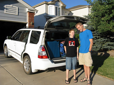 Monday morning, 8/4 - the car is packed and Julian & Chris are ready to head out west from Colorado Springs. Note: [JC] will mark the many later shots taken by Julian or Chris with their camera!