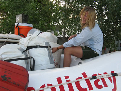 Everything we own is in those waterproof bags.  Guide Katie promises to keep an eye on them.