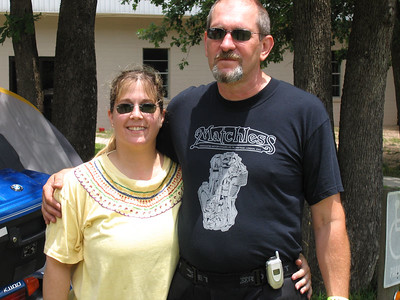 Steve & Karen at the BMOA rally. That is Steve smiling!!! This was Karen's longest solo ride on her bike to date. We had a great time, love you two!