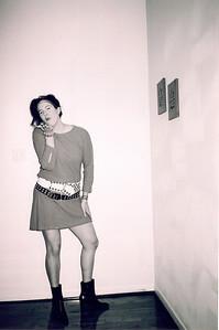 Heidi Vanecek in her 80's costume for Haloween in Houston 2003