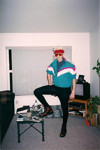 Dr.Mogul ski costume for the Haloween party at the Old Bozeman Hotel in 2001. Ass was grabbed many times that night, haven't worn tights that tight since.