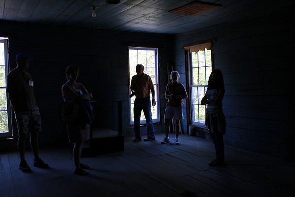 Tour lead by Marion Venable of the upper floor of the Masonic Lodge
