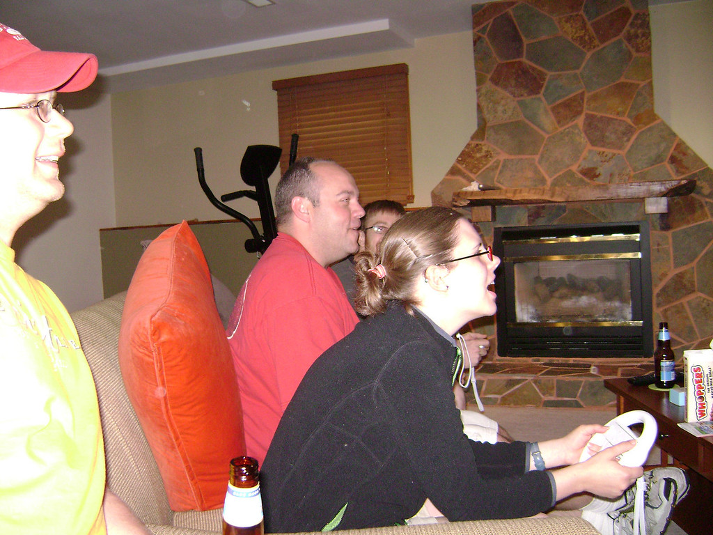 Nate, Darrin, and Jenny playing Mario Cart on the Wii when Angel, Darrin, and Lucian visited the Berry's.  May, 2008