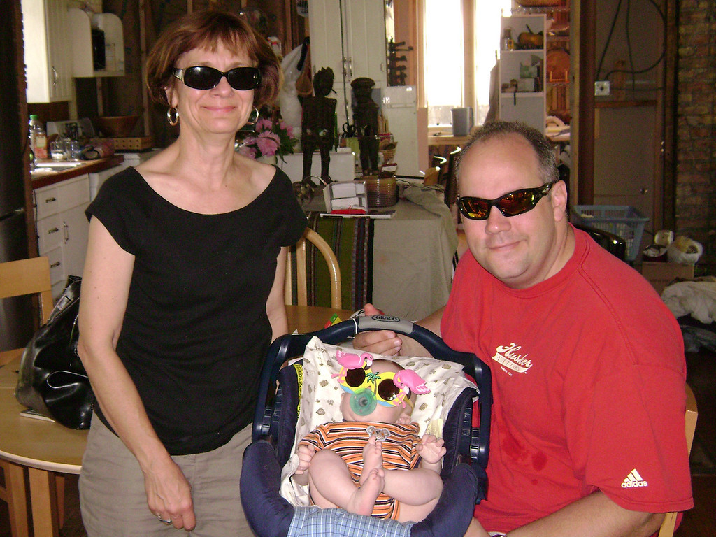 Darrin and Lucian Gunn with Joan when Angel, Darrin, and Lucian visited the Berry's.  May, 2008