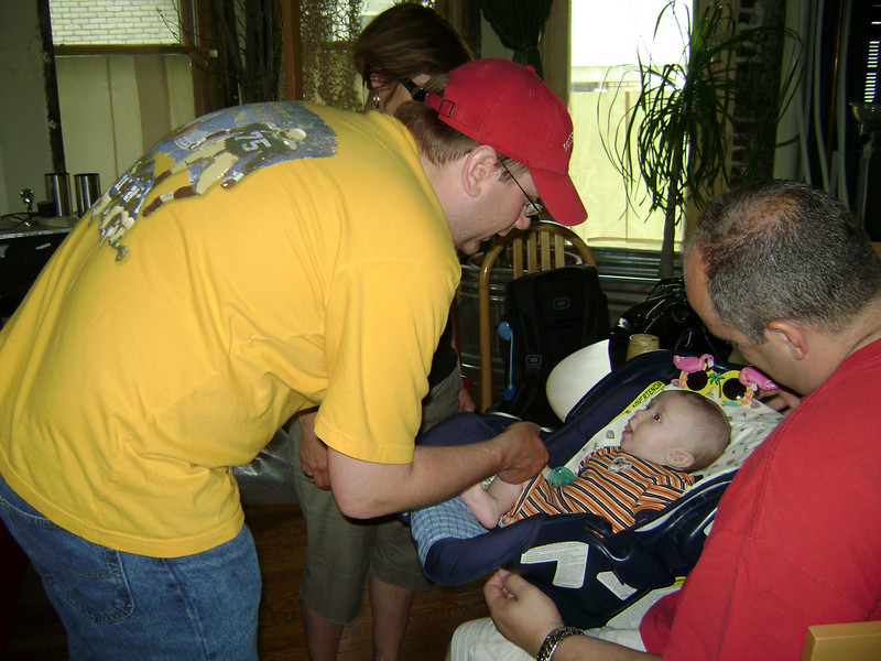 Darrin and Lucian Gunn with Nate Berry when Angel, Darrin, and Lucian visited the Berry's.  May, 2008