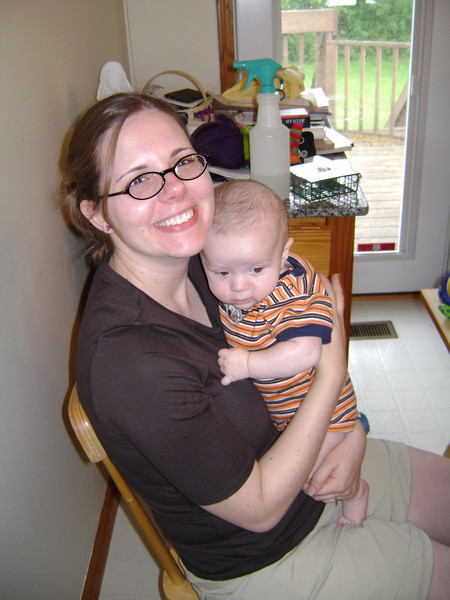 Lucian Gunn with Jennifer Swenson when Angel, Darrin, and Lucian visited the Berry's.  May, 2008