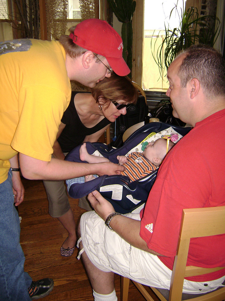 Darrin and Lucian Gunn with Joan and Nate when Angel, Darrin, and Lucian visited the Berry's.  May, 2008
