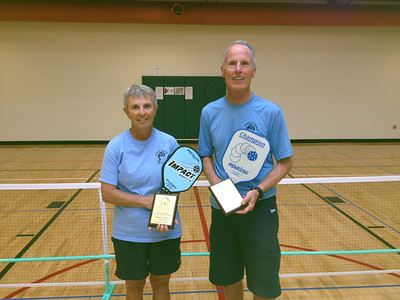 Saturday afternoon in Erie - Nancy & Bill bring home the Gold.