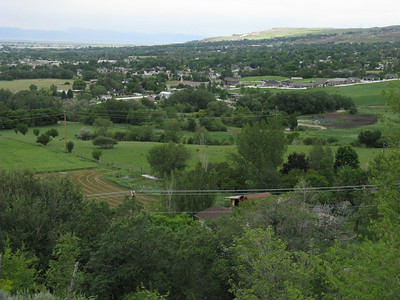 The Fruitland Farm four acres are hidden within the wooden area in the center.