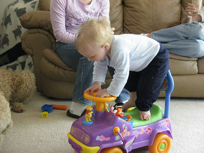 The car makes for a great gymnastics platform.