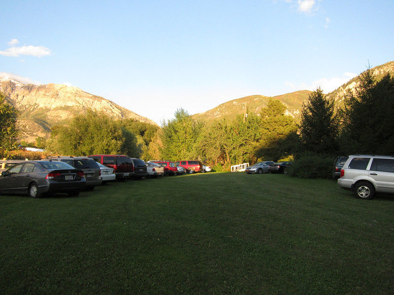This was late in the day - many cars having already departed from their property.