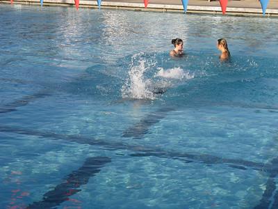 Actually it's swim club practice.