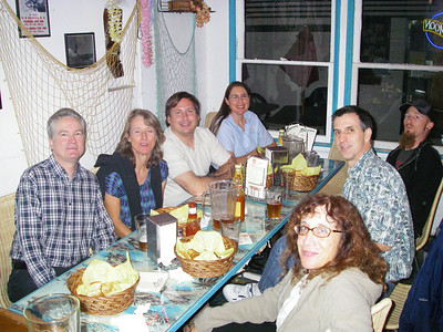 Happy times at Richmond Bar & Grill in El Segundo. L-R: Will, Kathy, Andy, Cathy, Jane, John & Brian.