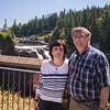 Boris and Irina in Front of Snoqualmie Falls