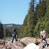 Hannah, Igor, Irina, Boris on Rocks at Snoqualmie River