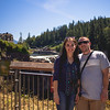 Hannah and Igor in Front of Snoqualmie Falls High Point