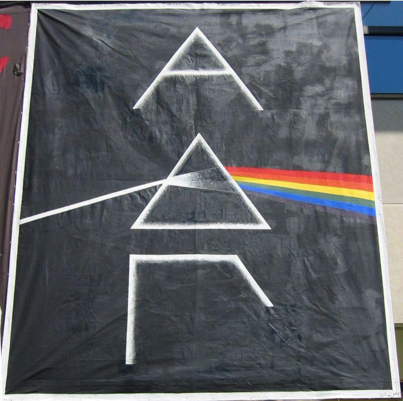 ADG 'Dark Side of the Moon' banner for Greek Week 2004.