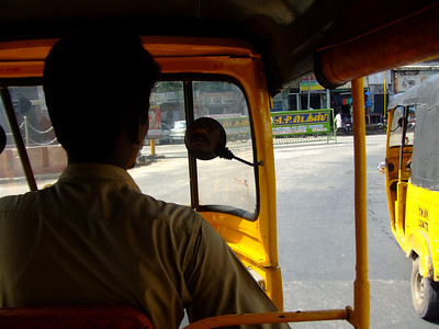 "After finishing with work, I took my first tuk-tuk ride. They usually call them ""autos"""