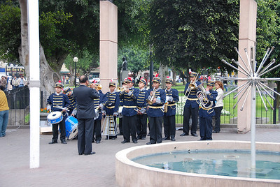 We stayed in the Miraflores neighborhood where a marching band welcomed us.