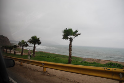 I was hoping we could go to the beach but the weather was dreary and the beaches of Lima aren't really for swimming and sunbathing anyway.