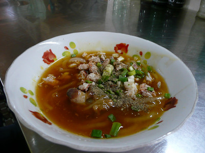 banh canh cua - thick rice noodles in crab broth (one of my fave dishes)