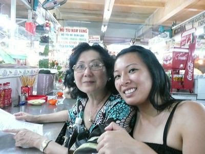Lunch downstairs of the Cholon market.