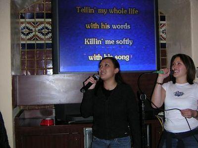 Me and Nic karaoke'ing at El Torito
