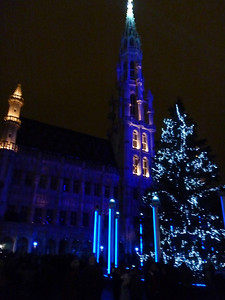 We headed to Grand Place, the center of Brussels and caught the Sound & Light show.
