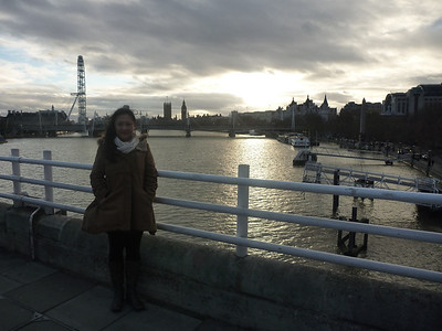 Day 1 (London): We arrived on Christmas Day so it was a total ghost town. The only other people we saw were other tourist zombies. *Waterloo Bridge with London Eye and Big Ben in background