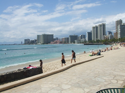 Waikiki Beach...I forgot to take pix at Lanikai.