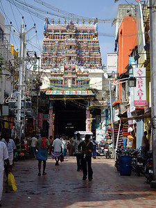 We visited the colorful Meenakshi Sunareswarar Hindu Temple, which Madurai is most well-known for.