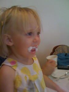 a little temperamental since she's teething