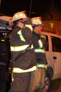Englewood Chief Bob Moran (R) directs operations at a four alarm fire