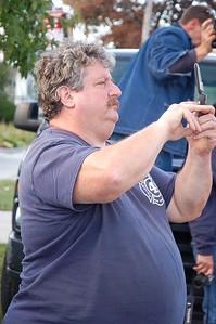 Scott Kooreman uses a non-camera on the FDNY Bus Trip