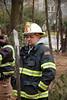 Wyckoff Battalion Joe Alvarez at a multi-department drill in Hawthorne
