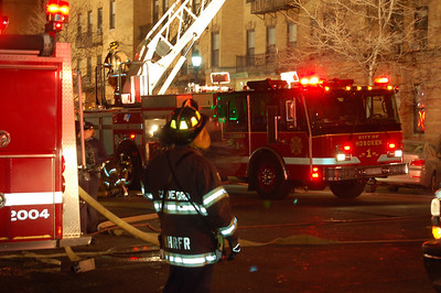 North Hudson Firefighter Joe Candeloro, Car 29, in on mutual aid at a multiple in Hoboken.