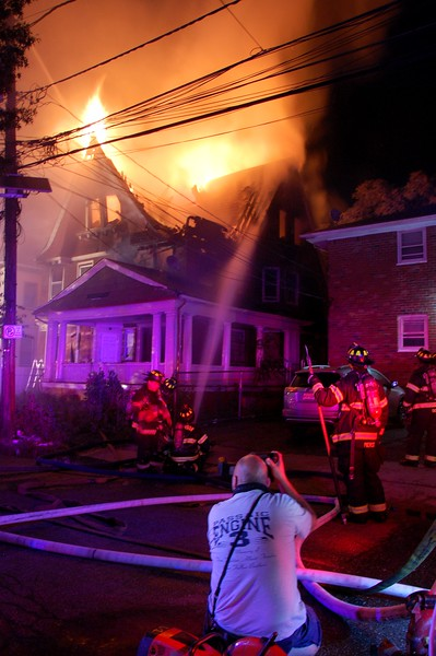 Hackensack Deputy Pete Danzo capturing a 2nd alarm in Paterson