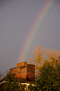 Rainbow over our house!