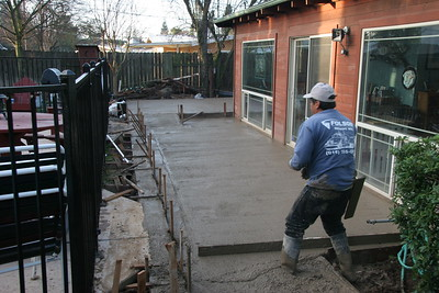 The new patio is taking shape.