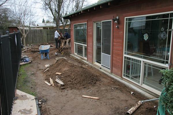 Back Yard Remodeling, 2007