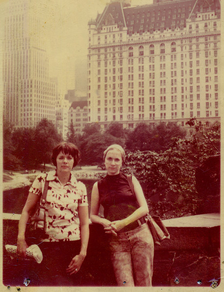 Barb and Barb in Central Park -- Margaret took this photo. Around um 1968 or 69?