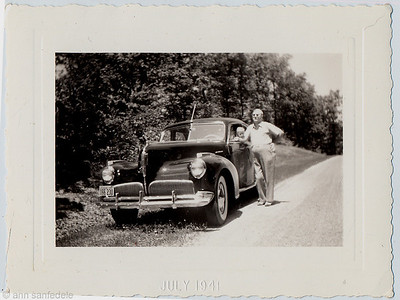 Note 1941 license plate and embossed date ; July 1941  - pop and me and the Studebaker... see 3 other photos with same date....