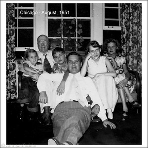 Chicago - August 1951  3 generations of Arts with Gracie, Babs ( Ann) amd Betty
